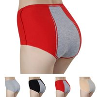 Wholesale Menstrual Panties - Wholesale High Waist Underwear with Pocket Women Physiological Cotton Panties Breathable Menstrual Warm Briefs XF0002