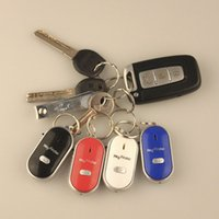 En inventaire Whistle Key Finder avec 4 couleurs Whistle Sound Control Locator Tracking with Flashing LED Livraison gratuite ITAG06