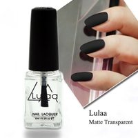 Wholesale Nail Polish Oil Matte - 6ML Nail Polish Magic Super Matte Transparent Nails Art Gel Frosted Surface Oil Nail Polish high quality