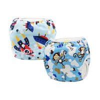 Wholesale Babies Underwear - Free Shipping YIFASHION 2pcs pack(Boy) Adjustable One Size Swimming Diapers Baby Reusable, Breathable Underwear 0-2ages