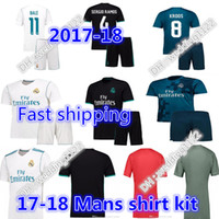 Wholesale Price Real - Wholesale prices 2018 Real Madrid Home Third Soccer Jersey KIT 17 18 Away shirt Ronaldo Bale Football uniforms Asensio SERGIO MODRIC RAMOS
