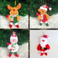 Wholesale T Bear - Cute christmas decorations Santa Claus snowman Elk bear arbol de navidad Chrismas tree Hanging Ornament Gift Christmas Decoration Supplies
