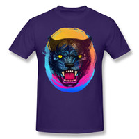 rugissement t-shirt achat en gros de-T-shirt 2017 de mode Panther Roar 3D Print T-shirt à manches courtes pour hommes et 100% coton confortable et respirant qualité bonne chemise