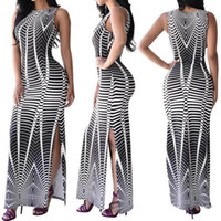 Wholesale Sexy Party Dresses Xs - 2017 Women Sexy Long Maxi Dress Summer Retro Style Beach Sundress Full Length Party Cocktail