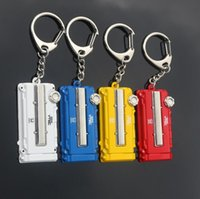 Wholesale Locking Hood Leather - Brand new Creative gift car modified engine hood metal key chain waist hanging key ring chain KR103 Keychains mix order 20 pieces a lot
