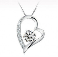 ingrosso monili di cristallo austriaci del pendente-Gioielli di cristallo austriaco di alta qualità diamanti collana pendente amore cuore collana di moda donne di classe ragazze gioielli Swarovski Elements
