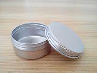 Wholesale Metal Ship Containers - Free shipping 50g empty aluminium cream jars with screw lid,cosmetic case jar,50ml aluminum tins, aluminum lip balm container