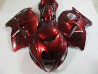 Wholesale Hayabusa Red - High quality fairing kit for Suzuki GSXR1300 96 97 98 99 00 01-07 wine red fairings set GSXR1300 1996-2007 OT18