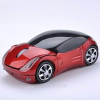 Venda Por Atacado Portable Mini Computer Mouse Sports Car Shape Mouse sem fio 1600 DPI Mouse de mouse de jogo óptico para PC Laptop