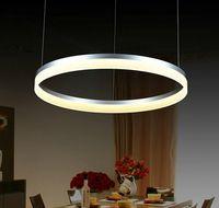 Wholesale Suspension Lights Modern - Modern LED living dining room pendant lights suspension luminaire suspendu led ring lighting lamp fixture de techo colgante