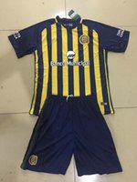 Wholesale Central Homes - 17 18 Atletico Rosario Central home deep blue soccer jerseys and shorts men's thai quality football uniform outdoor soccer wear sports suits
