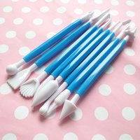 Wholesale Clay tools Sugar Tools Pieces of Children DIY Chocolate Cake Carving Tools Carving Group Kneading Sticks Toys
