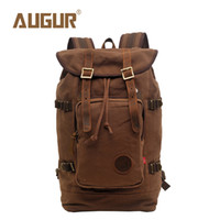 Wholesale Retro Laptop - AUGUR Brand New Fashion Travel Backpack Women Mens Designer Backpack Retro Canvas Leisure Laptop Backpack Men Shoulder Bag