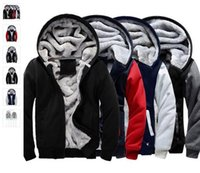 Wholesale Fleece Made Usa - USA SIZE 2016 Men Winter Autumn Hoodies Blank pattern Fleece Coat Baseball Uniform Sportswear Jacket wool make to order designs