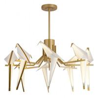 bougies violettes achat en gros de-Créateur moderne oiseau droplight salon bar restaurant personnalité papercranes lampes de chambre et lanternes de lampes et lanternes shi gratuit