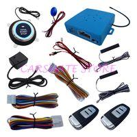 Wholesale Car Alarm Shock Sensors - PKE Car Alarm System Passive Keyless Entry With Shock Sensor Remote Start Push Button Start & Dual Path Control Emergency Release Switch