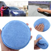 Blue 50pcs Polish Spam Sponge Applicateur de voiture Cleaning Microfiber Waxing Pad Detailing Free shpping
