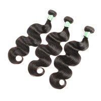 Wholesale Virgin Closures For Cheap - Unprocessed Peruvian Virgin Human 3 Hair Bundles With 13x4 Lace Frontal Closure Body Wave 1B Color For Black Women Cheap Queenlike 7A