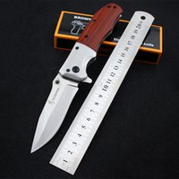 Wholesale Forged Tool Steel - Browning 100% Hand-forging Pocket Folding Knife 3Cr13Mov Stainless Steel Hunting Knives Red Wood Handle Self-defense Survival Tools