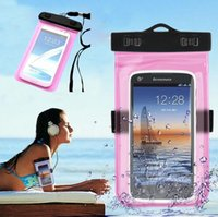 Wholesale water proof iphone 5c cases - Mobile Phone Waterproof Bag Case for iPhone 5 5s SE 5c 6 6s Plus Underwater Water Proof cover for Samsung S6 S7 edge