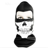 Wholesale Full Face Protector - Balaclava Ghost Full Face Skull Mask Motocycle Biking Dust Protector Hood Party Cosplay Ourdoor Sports Free Shipping
