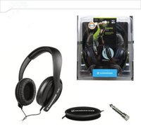 Noise Cancelling blackberry games - HD202 black powerful bass stereo adjustable coil conversion convenient plug monitor headphones DJ computer game headset
