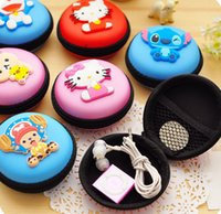 Vente en gros- Super Kawaii Hello Kitty, Cat Etc. Choice - 16Models 7CM Cable Wire Holder BOX; Coin Storage BAG Key BAG Case Portefeuille