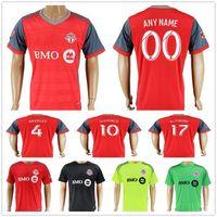 Wholesale Fc Uniforms - 2017 2018 Toronto FC Soccer Jersey 4 BRADLEY 10 GIOVINCO 17 ALTIDORE 21 OSORIO Home Away Customize Any Name Football Shirt Kit Uniform