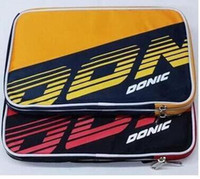 Wholesale High Quality Table Tennis Rackets - High quality 2PCS Donic 66086 table tennis bag single set table tennis racket cover