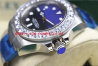 ingrosso orologi più grandi-Orologio da polso di lusso di moda 'James Cameron' Blu Nero 116660 44mm Dive Watch Bigger Diamond Lunetta in ceramica meccanica Orologi da uomo Top Quality