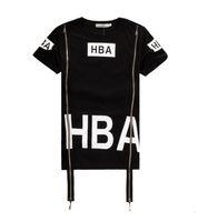 Wholesale X Ray Shirt - 2017 Men Fashion Hip Hop T- Shirt Zipper Side HBA Hood By Air Harajuku t shirts for men Spinal Cord X-ray Streetwear Tees