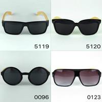 79ebe848df5 Logo Carved Custom Made Wood Sunglasses Square Black Designer Sunglasses  Bamboo Temples And Plastic Frame Vintage Eyewear 4 Colors