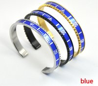 Wholesale Top Selling Bangle Bracelets - Top sell 316L Titanium steel Pulseras Vintage Silver Plated Bangle for Men Stainless Steel Cuff Speedometer Bracelet Unisex best gifts