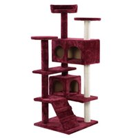New Cat Tree Tower Condo Scratch Post Kitty Pet House Play Wine