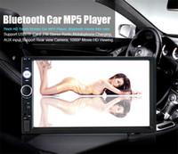 ingrosso doppio lettore dvd dvd touch screen-Multi funzione da 7 pollici HD Touch Screen Bluetooth auto abilitato MP5 Player integrato Gps Radio FM doppio DIN DVD Audio Video