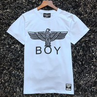 Wholesale Women T Shirt Boy London - top quality 2017 new style Boy London fashion women t-shirts printed letters Eagle arm couple men Bronzing cotton t shirts tee