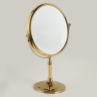 Wholesale Gold Plating Copper Framed Dressing Table Top Faced Swivel Vanity Mirror with x Magnification Inch Diameter