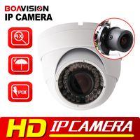 Wholesale Waterproof Camera Ir Mobile - 2MP 1080P POE Dome IP Camera IR 30M Waterproof CCTV Camera With POE PC&Mobile View Onvif Auto Iris 2.8-12mm VariFocal Lens P2P