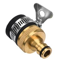 Wholesale Quick Wash Washing Machines - Wholesale-New Arrival PVC Copper Universal Garden Lawn Washing Machine Water Tap Hose Pipe Connector Fitting Quick Adapter Nozzle July 12