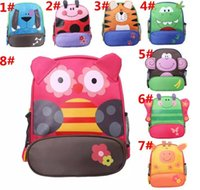 Wholesale Boys Schoolbags - Kids Cartoon Animal Shoulder Bags Boys Girls Cute Backpacks Schoolbags Children Baby Toddler Canvas Handbag Tote Bags For Students