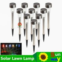 Wholesale Stainless Steel Garden Light Led - Best Solar Lamps Solar LED Light Multicolor Stainless Steel Solar Lawn Lights Led Garden Light Decoration Outdoor Street Lamps Waterproof