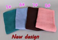 Wholesale Crinkle Scarf Wraps - 16 Colors New Design printe Solid Color Crinkled Crumple Shawls Headband Viscose Wrinkle Floral Hijab Wrap Elastic Muslim Scarves scarf 2017
