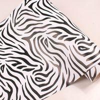 Wholesale Kids Cartoon Bedroom Furniture - Wholesale-10m*45cm kids Pvc wallpaper real child bedroom wall stickers self-adhesive cartoon furniture sticky notes zebra print home decor