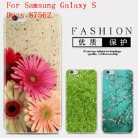 Wholesale Galaxy Duos S7562 Tpu Case - Flower Series Phone Case For Samsung Galaxy S Duos S7562 Cute Cartoon High Quality Painted TPU Soft Silicone Skin Back Cover Shell