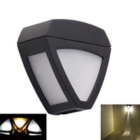 Außerhalb Der Sicherheitsbeleuchtung Kaufen -Großhandel-Retro-Wand montiert draußen Solar-Nachtlampe Wireless Security 2 LEDs Gutter Zaun Flur Bürgersteig Street Home Dach Gazebo Light
