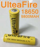 Wholesale Ups Battery Wholesale - 120pcs up 18650 battery 3.7V 9800mAh rechargeable lithium battery for Led flashlight litio battery cell