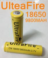 Wholesale Wholesale Rechargeable Led Flashlights - 120pcs up 18650 battery 3.7V 9800mAh rechargeable lithium battery for Led flashlight litio battery cell