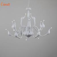 Wholesale G4 Led Fast - 18 LightS Fashion White Swan Pendant Lamp Light Light Fitting Black Swan Pendant Lamp Wholesale  Retail Fast Shipping