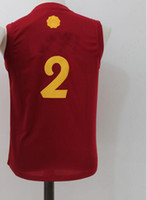 Wholesale Children Size Jerseys - Youth #2 Christmas Basketball Jerseys Top quality Size S-XL kids boys Children Red Sport Basketball Jersey
