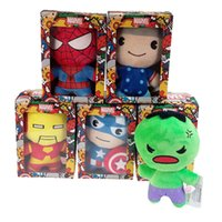 Wholesale Wholesale Small Black Dolls - Movie cartoon small pendant plush toy Avenger Union wedding event gift catch baby doll doll children gifts wholesale